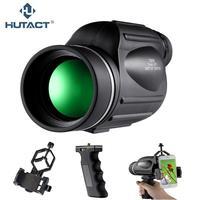 HUTACT 13x50 Telescope Monocular Binoculars For Bird Watching Professional Monokular Holder Nitrogen Waterproof Optical Portable
