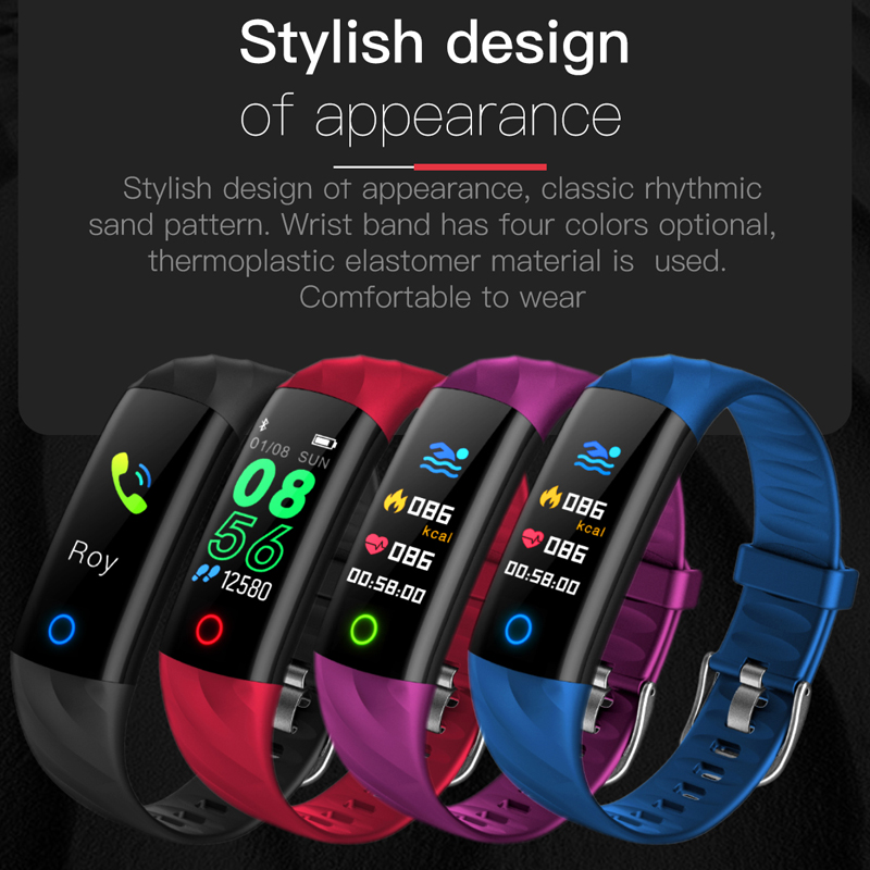 LIGE 2019 Sport Smart bracelet Heart Rate Monitor Blood Pressure Fitness Tracker Smart Watch Men Smart band for ios android BOX in Smart Wristbands from Consumer Electronics