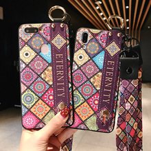 Wrist Neck Strap Soft TPU Phone Case For iphone 7 8 6 6s plus X Xs Max XR Flower Pattern Holder With Finger