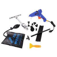 WHDZ 18 Pieces Auto Paintless Dent Removal Kits Dent Puller PDR Glue Silde Hammer With Air