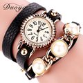 Duoya Brand Watches Women Gold Pearl Leather Dress Wristwatches Fashion Casual Luxury Bracelet Female Women Girl Clock Hours