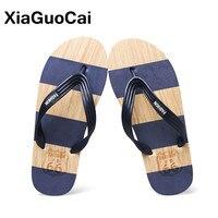 Xiaguocai الرجال سيور الأزياء أقدام مطاطية للماء الخفيف قرصة الوجه يتخبط الصيف الرجال النعال الشاطئ