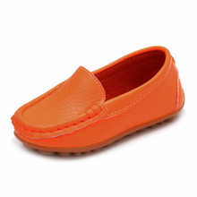 MACH New Children Shoes Classic Fashion PU Shoes for Girls Boys Shoes Flat Casual Kids Shoes(Orange)