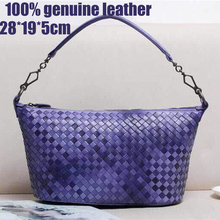 Hand Knitted Brand Women Handbags Genuine Leather Women Shoulder Bags 2015 Fashion designer Shoulder Bags