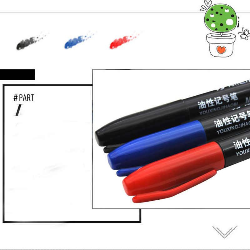 1 pezzo 3 colori grassa pennarello nero pennarello rosso blu indicatore di scuola ufficio supplie disegno manga accessori per ufficio penna di arte
