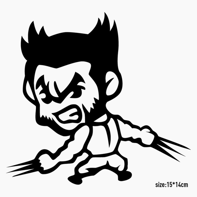 10 pieces personality wolverine car styling whole body sticker decal for all cars