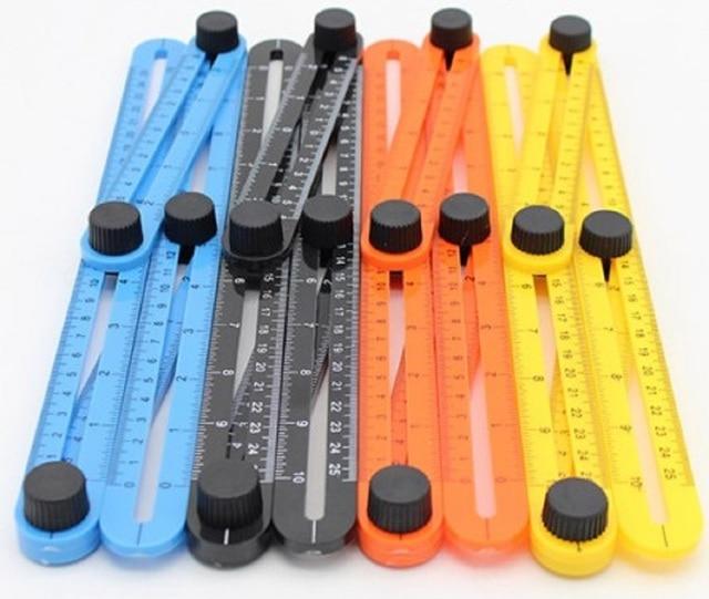 Измерение мульти-угол линейка инструмент 4 цвета угол измеряет все углы формы для Handymen строителей мастеров