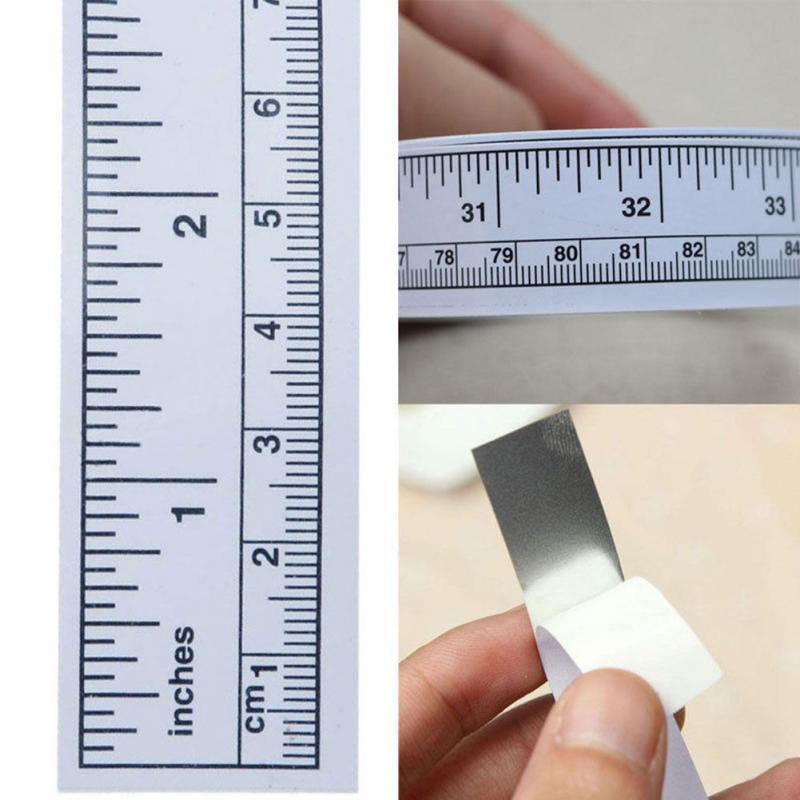 45/90cm Vinyl Metric Measure Soft Ruler Tape DIY Self Adhesive Measuring Tape Ruler Sticker Home Sewing Tool Accessory