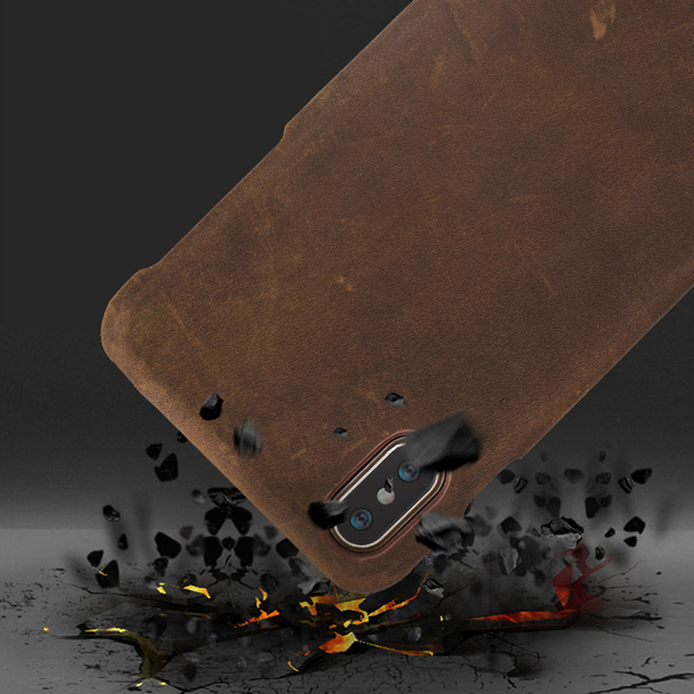 Genuine PULL-UP Leather phone case for iphone X 11 11 Pro 11 Pro Max XS XR XS MAX 8 Plus Cover for Apple 5 5S SE 6 8 7 6s Plus 5