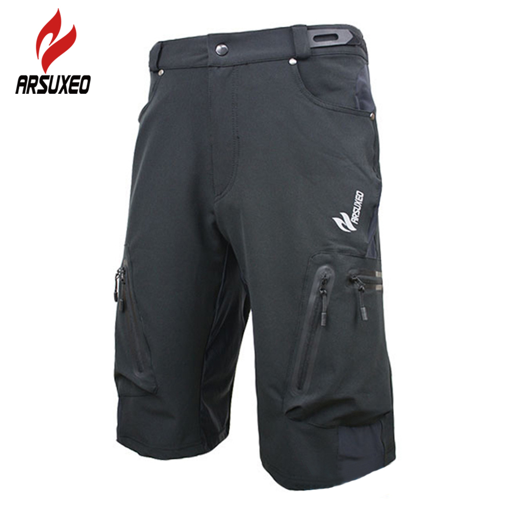 ARSUXEO Men's Outdoor Sports Cycling Clothing Downhill BMX MTB Shorts Mountain Bike Bicycle Climbing Shorts