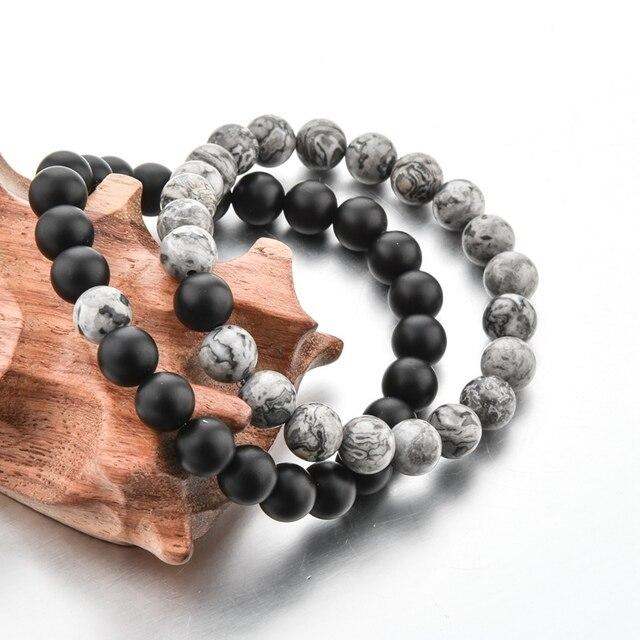 Купить chicvie 2019 серый и черный браслет с подвесками браслеты для картинки