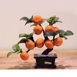 Jade garnek 9 orange drzewo salon decor wyposażenia domu jade ozdoby rzemiosło kreatywne prezenty