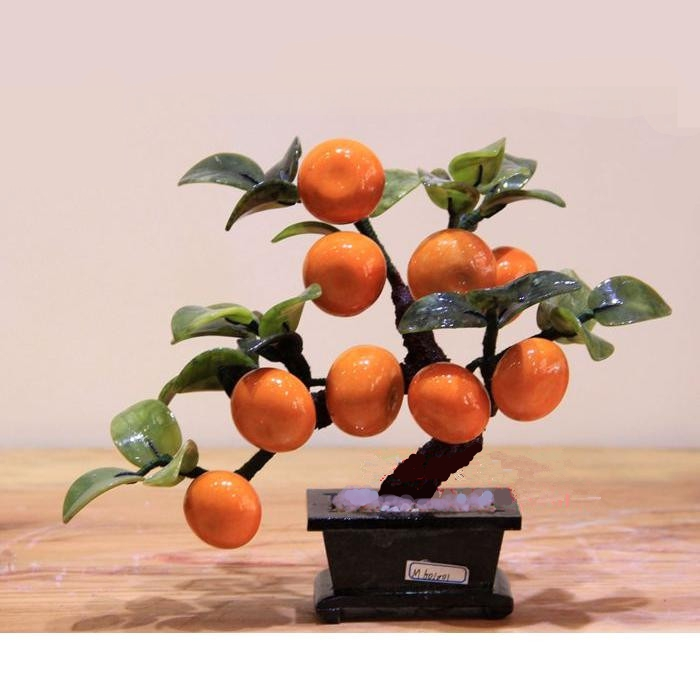 Jade pot 9 orange tree living room decor Home Furnishing jade ornaments crafts creative gifts