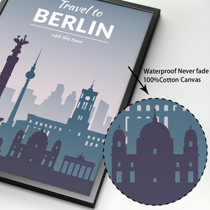 Image 4 - Paris Berlin Istanbul Prague florence Nordic Posters And Prints Wall Art Canvas Painting Wall Pictures For Living Room Decor