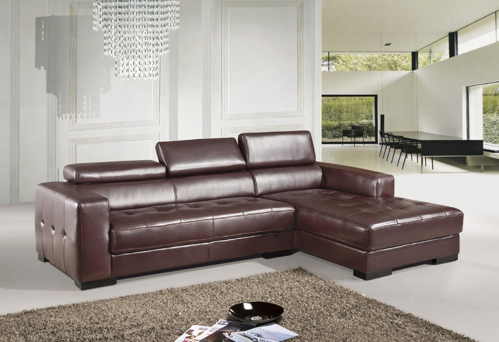 US $807.5 5% OFF|Dermal sofa high grade leather sofa 2015 new living room  sofa sectional special offers near sofa package shipping to sea port-in ...
