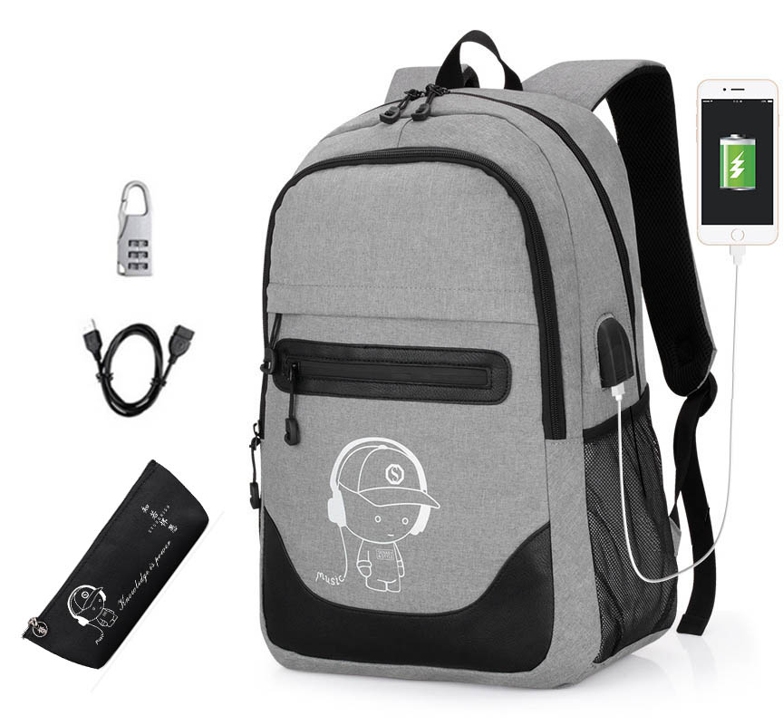 2019 Kids Student School Backpack Anime Luminous USB Charge Laptop Backpack For Teenager Anti-theft Back Pack Boys School Bags