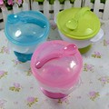 Baby Kids Sucker Bowl Spoon Set Tableware Dishes Gravity Bowl Slip-Resistant Wall Suction Feeding Product