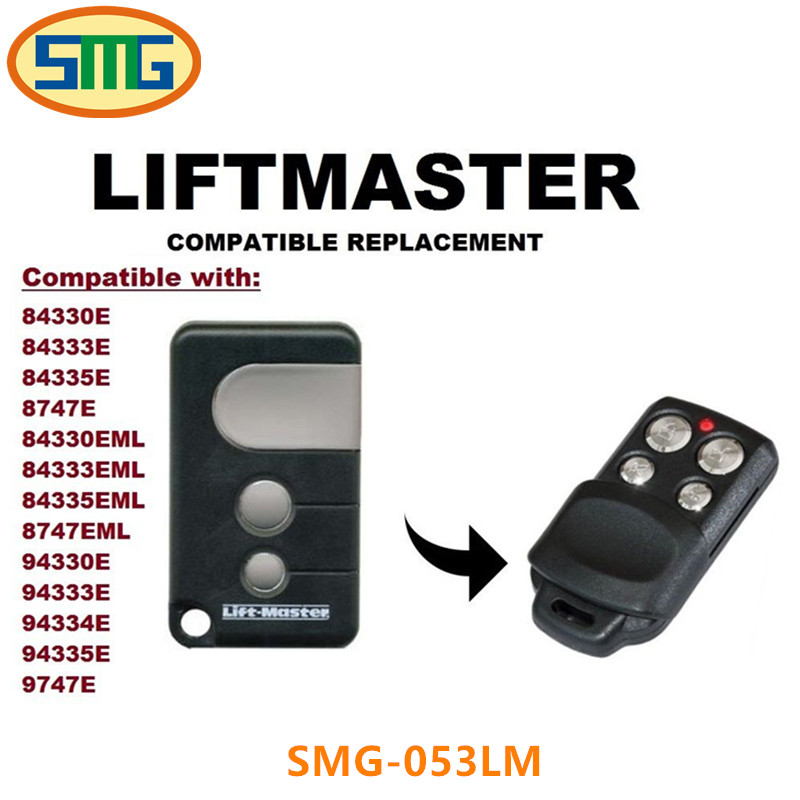 Remote control LiftMaster 053LM Garage Door 84330ELM 84335ELM Openers 433.92mhz 4 Button free shipping