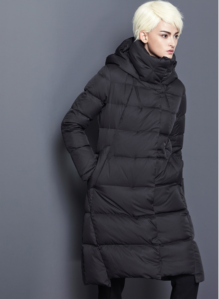 2018 womens winter long down jackets thick black navy blue red plus size winter down coats