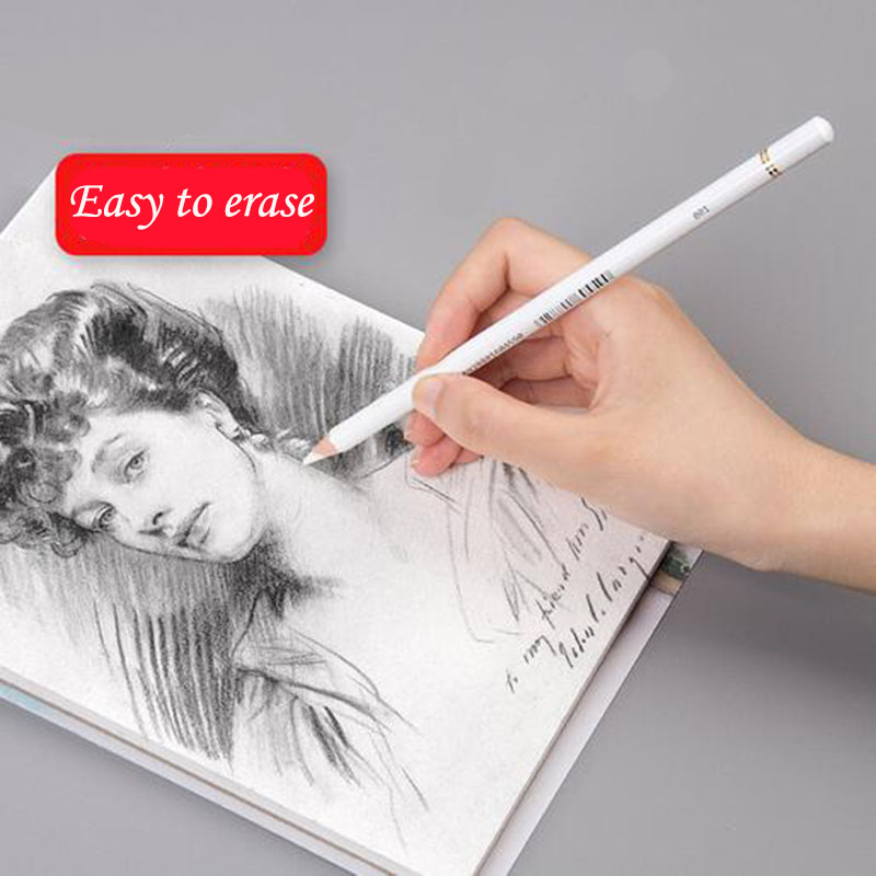 Sketch Pen Rubber High Light Erasers Rubber Pen Professional Sketch Left White Pencil Art Eraser Material Para Estudiar