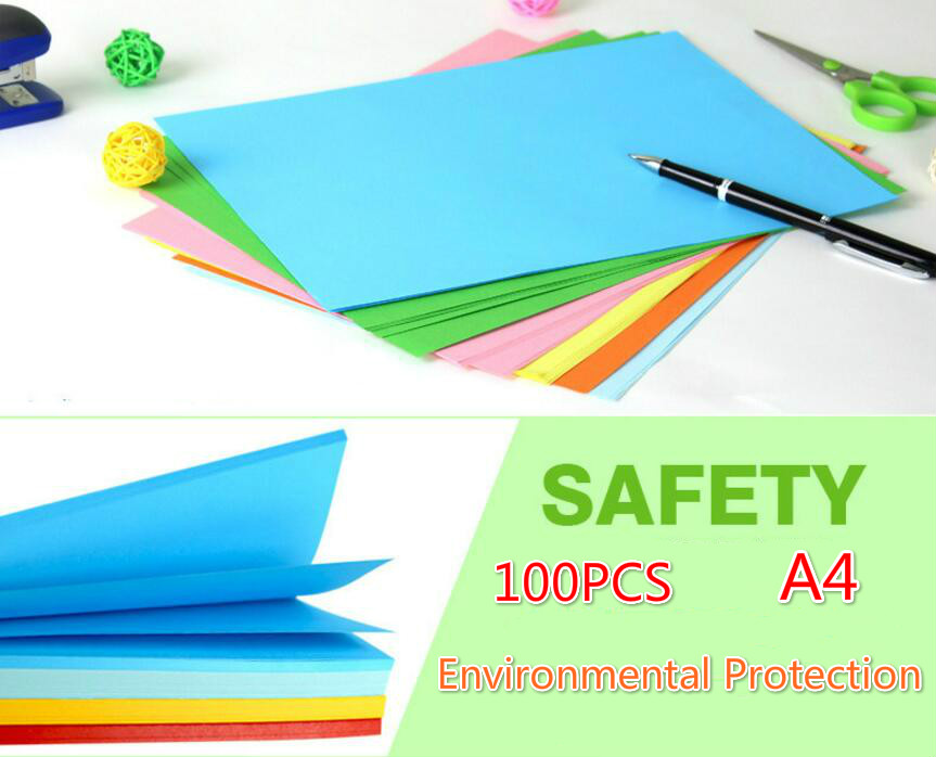 100pcslot 80g Colored Copy Paper A4 Colored Printing Paper