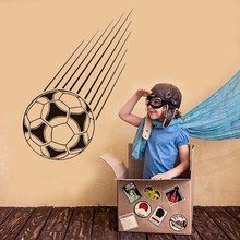 Sport Falling Football Wall Stickers For Kids Rooms Bedroom Decals Vinyl Removable Self Adhesive Wallpaper Art Mural Home Decor(China)