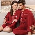 Modal Nightdress Women long-sleeved Mens pyjamas women nightshirt