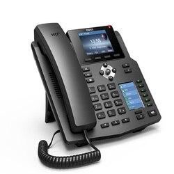 Telefone ip fanvil x4 4 linhas sip hd voz enterprise telefone com inteligente dss key-mapeamento display lcd