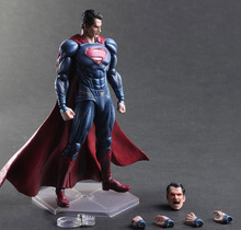 Free Shipping 10″ PA KAI Batman v Superman Dawn of Justice Super Man Boxed 25cm PVC Action Figure Collection Model Doll Toy Gift