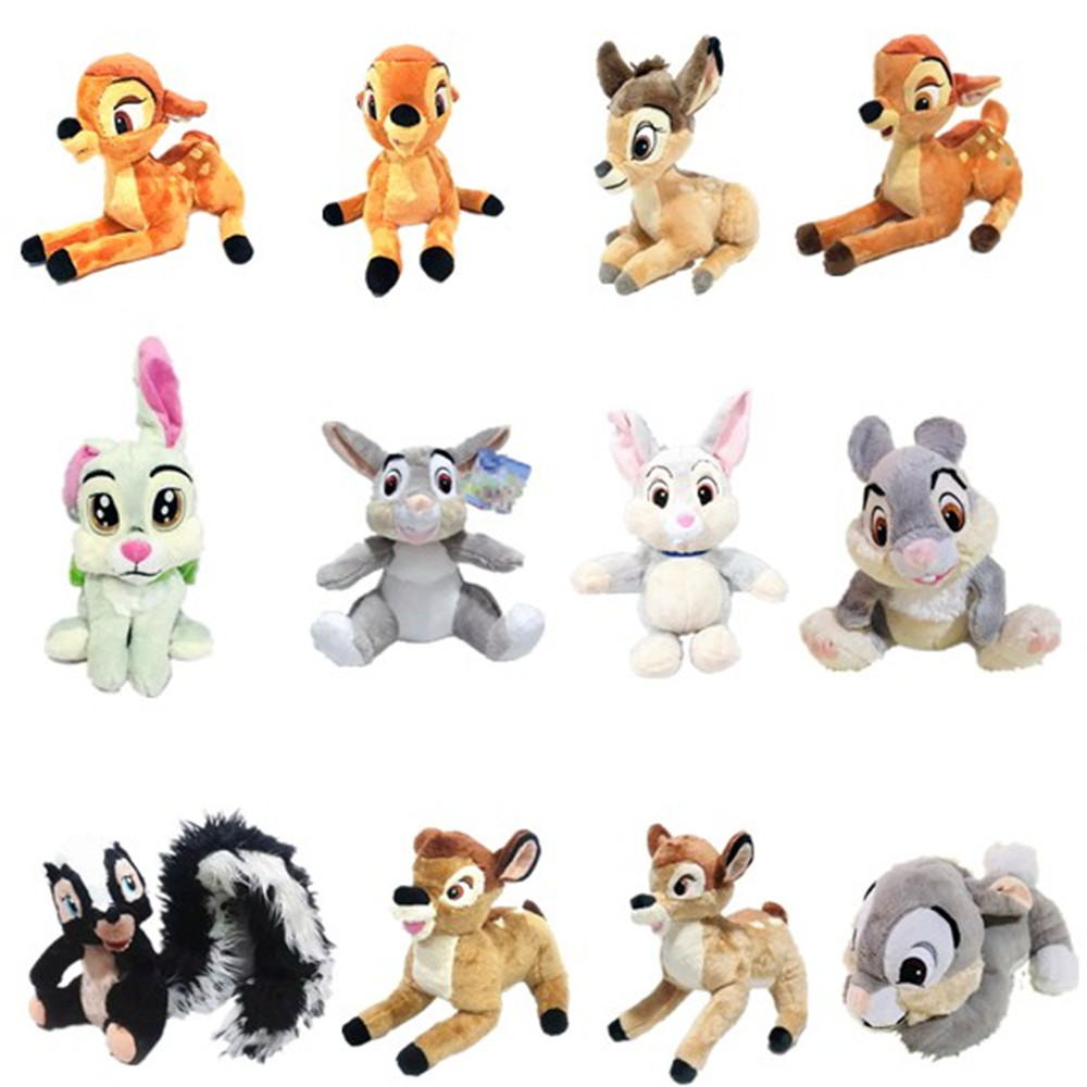 1pieces/lot 25-30cm Plush Toys Sika Deer Doll Edition Festival Christmas Gift Toy For Children Christmas Ornament