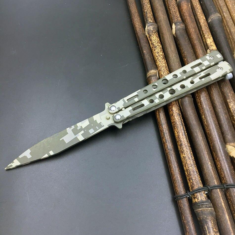 5Cr13Mov Edelstahl messer Schmetterling Ausbildung Messer schmetterling in messer gaming werkzeug messer dull werkzeug keine kante