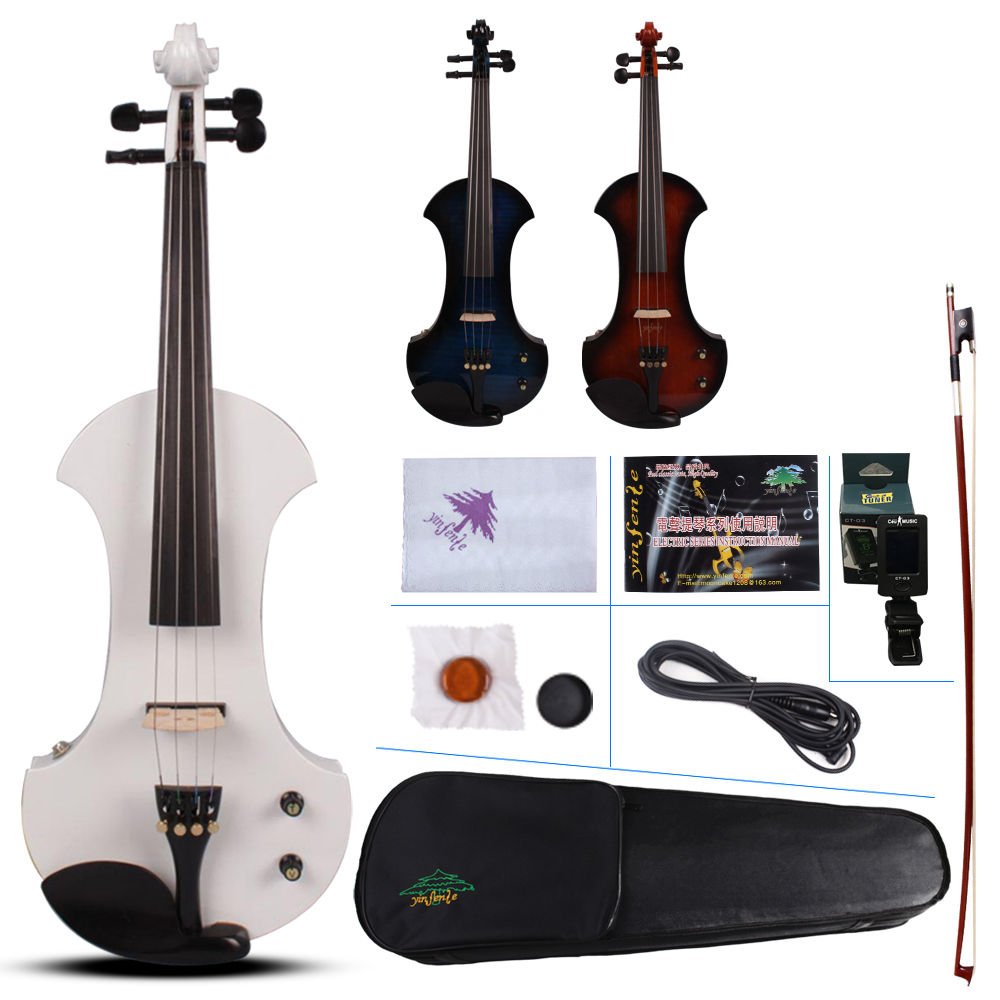 New 4/4 Electric violin Powerful Sound Big Jack White Violin Case Bow yinfente 26 nanjing province specialty wheat cake gold flower cake sesame cake fuling horseshoe crisp cake optional