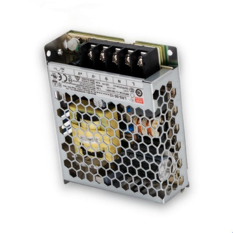 Meanwell LRS 50 series Enclosed Switching Power Supply single output 50W AC to DC12V/DC24V High efficiency cooling by free air