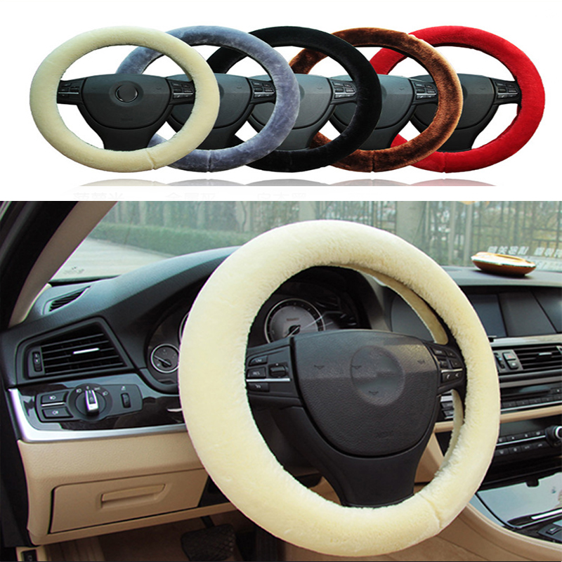 Non-slip Car Styling Steering Wheel Cover For Volkswagen VW Polo Passat B5 B6 CC Golf 4 5 6 7 Touran T5 Tiguan Bora Scirocco image