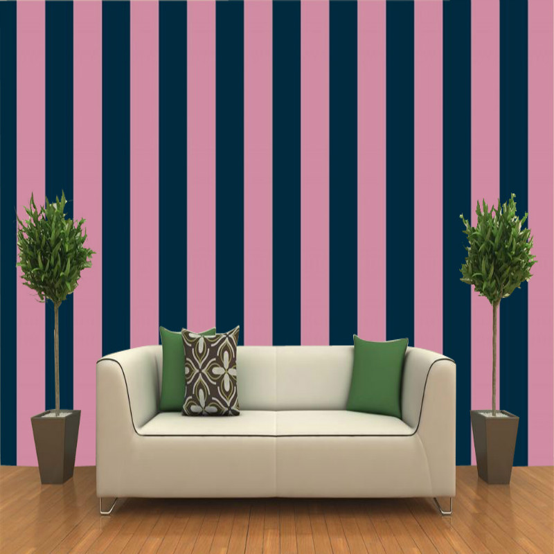 Beibehang Bedroom wall wallpaper stripes 3 d living room yellow ...