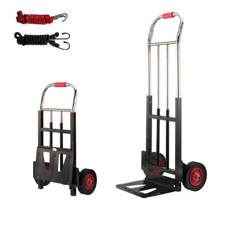 29965f8be7be Folding Hand Truck, 120lbs Heavy Duty 4 Wheel Solid Construction ...