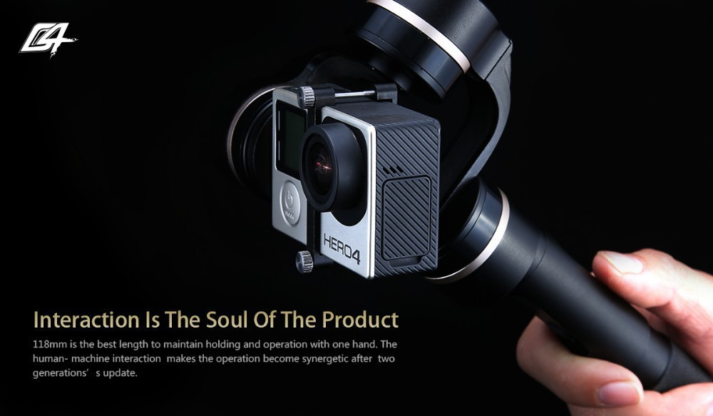 Factory Guarantee Feiyu Tech Newest G4 3 axis handheld gimbal Steadycam Gimbal for gopro 3  3 +  4