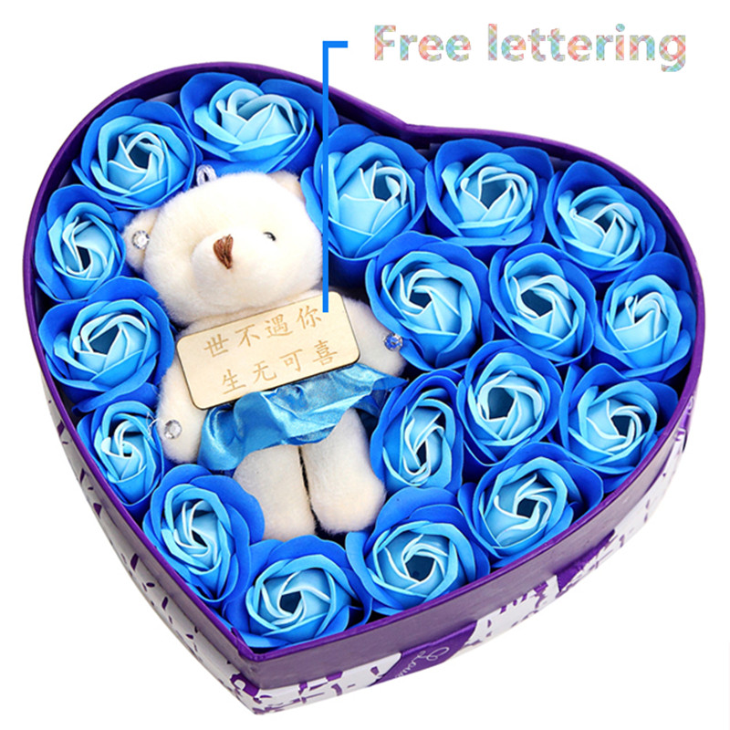 Permalink to Stuffed animal Plush Bear toy Free Lettering Bouquet Box Wedding Decorations Valentine's Day/Birthday/Graduation Apologize Gift