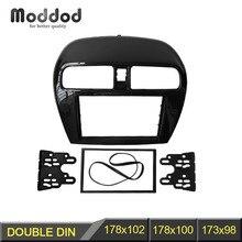Double Din fascia pour MITSUBISHI Mirage Space Star Radio Stéréo Dash Panel Installation et Montage De Garniture Kit Visage Cadre