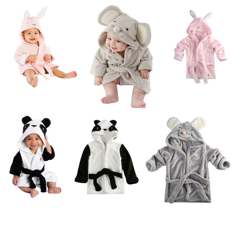 Cute toddler baby boy girl bathrobe cartoon animal role playing bodysuit robes baby pajamas(China)
