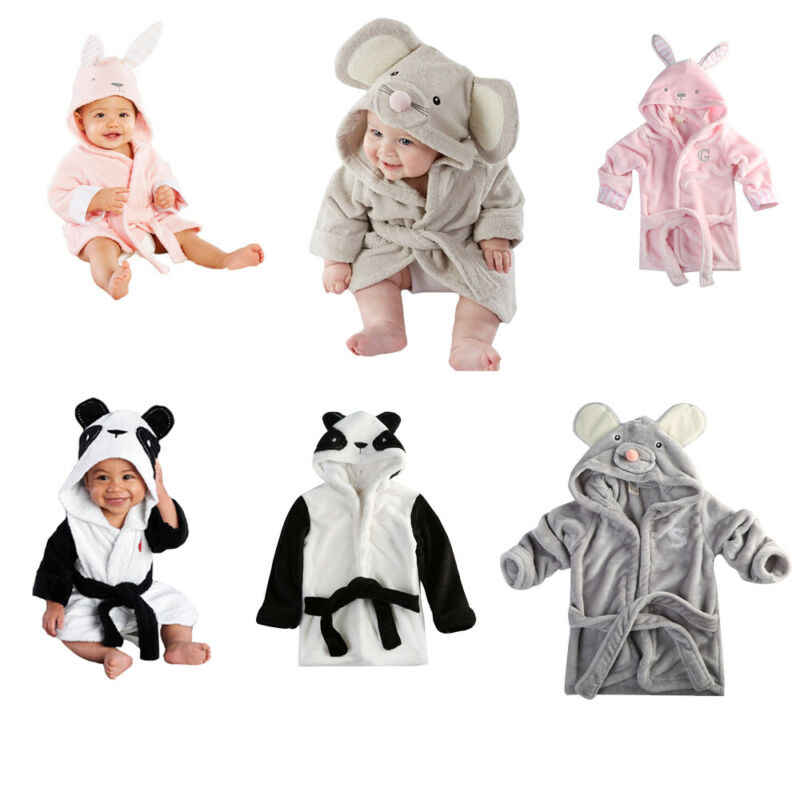 Cute toddler baby boy girl bathrobe cartoon animal role playing bodysuit robes baby pajamas bath robe