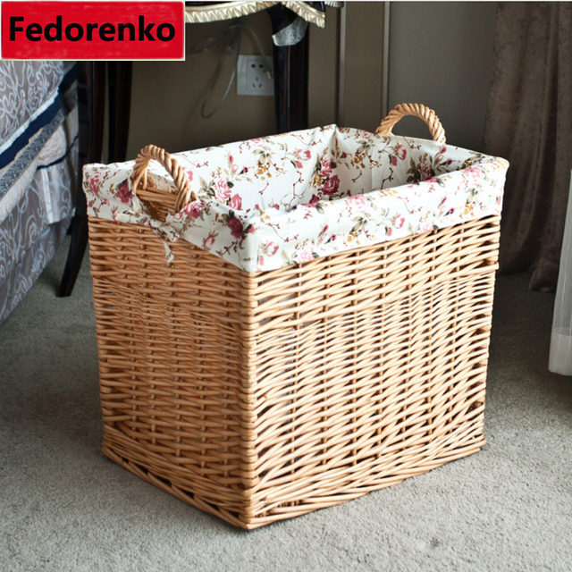 Large Rattan Wicker Storage Baskets Woven Straw Laundry Basket Wicker Cesto  De Roupa Suja Kids Storage Basket For Toys Wasmand