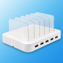 5 port Multi-Perform USB Charging Station Dock with Stand EU US AU UK Plug for Cellular Telephone Pill PC