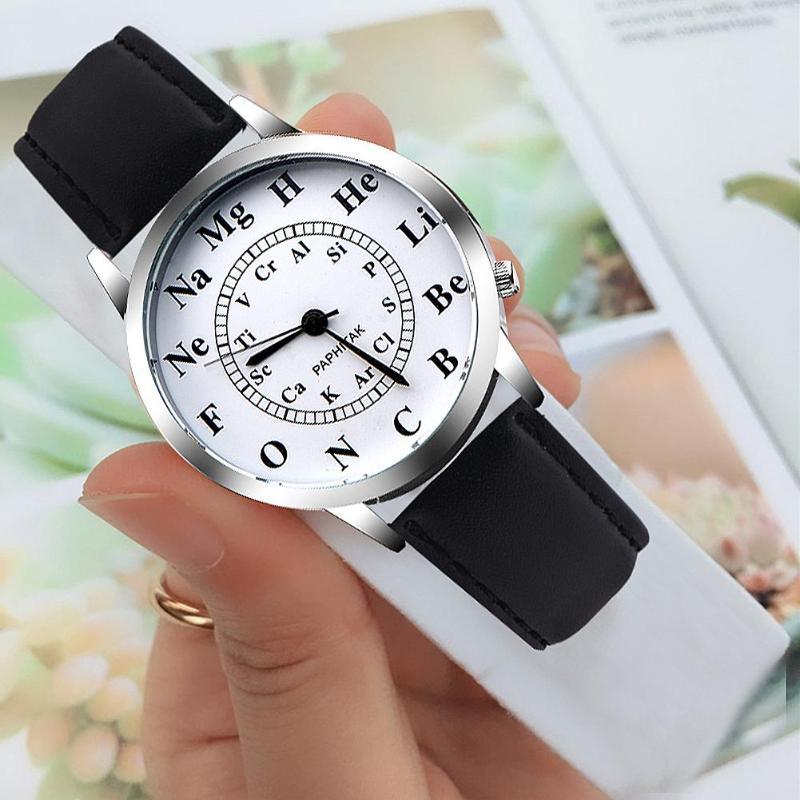 Waterproof Canvas Strap Quartz Watch Women Chemical Element Dial Wristwatch Wrist Watch High Quality Clock Retro Design