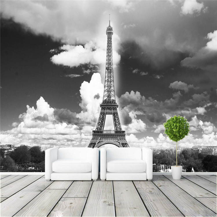 Vintage Wall Mural Wallpaper Eiffel Tower Photo wallpaper ...  Vintage Wall Mu...