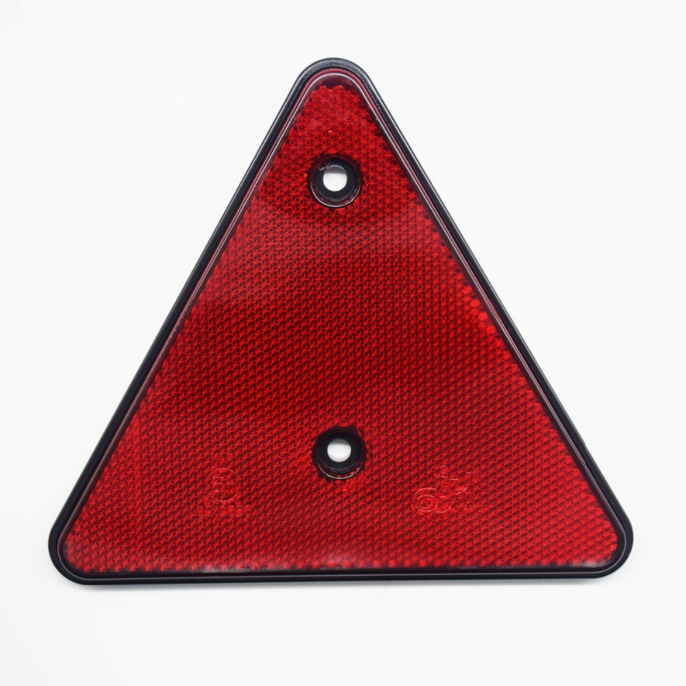 2Pcs Rear Light Car Truck Trailer Fire Triangle Reflector Safety Warning Board For Trucks Highway Driving Cars Emergency Parking 30cm portable triangle shaped nylon dual side flash reflector board golden silver black