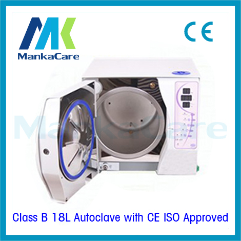 Class B 18 Liters Three times Vacuum Steam Sterilizer Dental Autoclave sterilizer WITHOUT PRINTER Medical Lab Clinic Equipment 12l class n autoclave medical dental autoclave sterilizer dental clinic or lab instruments disinfection cabinet lcd