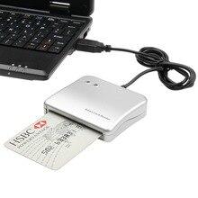 Easy Comm USB Smart Card Reader เครื่องอ่านบัตร IC/ID card คุณภาพสูง Dropshipping PC/SC Smart Card Reader สำหรับ Windows Linux OS