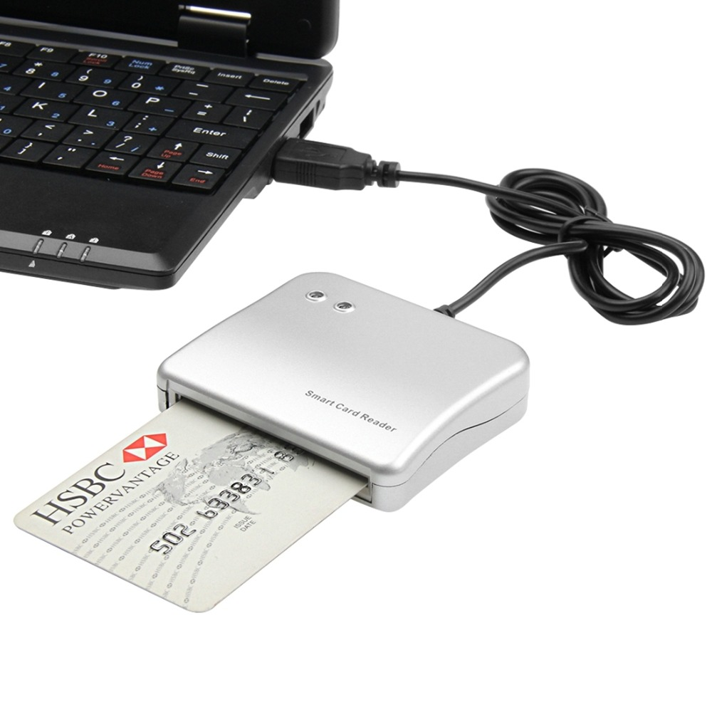 Easy Comm USB Smart Card Reader IC/ ID card Reader High Quality Dropshipping PC/SC Smart Card Reader for Windows Linux OS-in Card Readers from Computer & Office