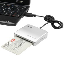 Easy Comm USB Smart Card Reader IC/ ID card Reader High Quality Dropshipping PC/SC Smart Card Reader for Windows Linux OS